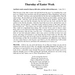 thumbnail of Easter Week – Thursday PDF