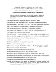 thumbnail of Sample Questions for Confirmation